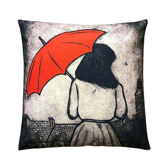 'Warsaw Raining' Design Cushion