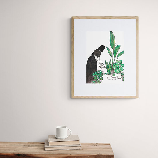 'The Garden Forager' Giclee Print