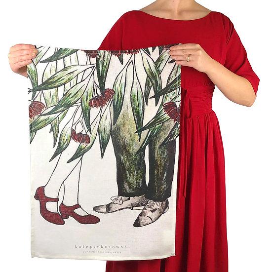 'Gumnut Dreamers' Design Linen Tea towel