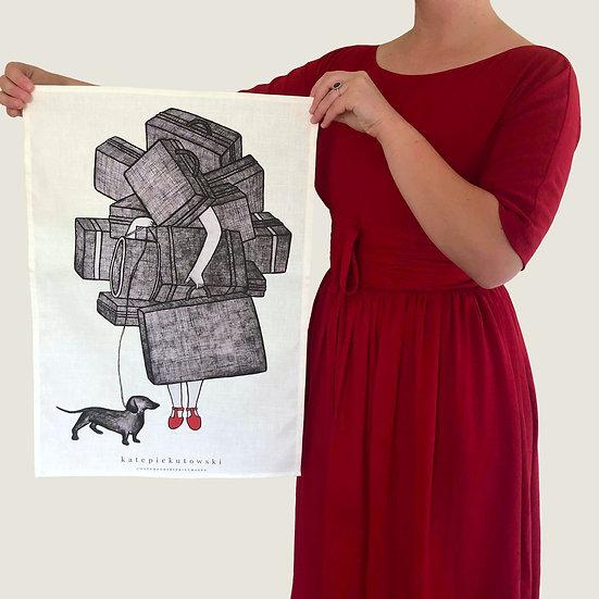 'An Artist's Burden' Design Tea towel