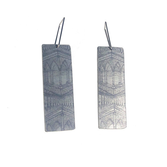 'Grey Gothic' Design Earrings