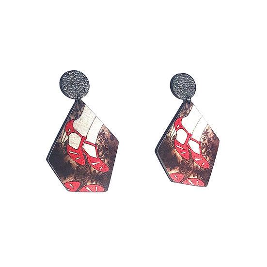 'Ruby Shoes' Design Earrings