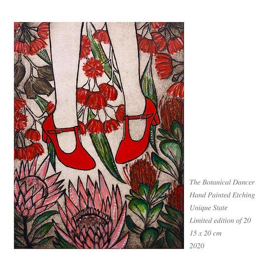 Original Etching 'The Botanical Dancer' Unframed