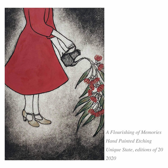 SALE 'A Flourishing Of Memories' Etching