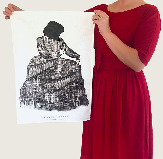 'The Architect' Design Tea Towel