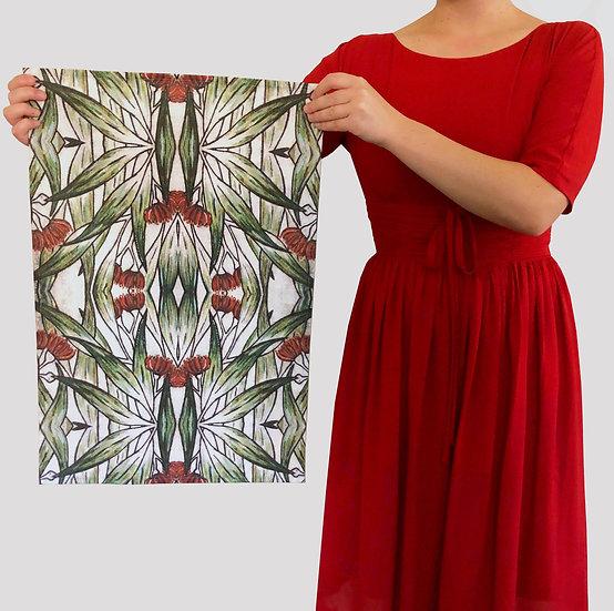 'Flowering Gum' Design Tea Towel