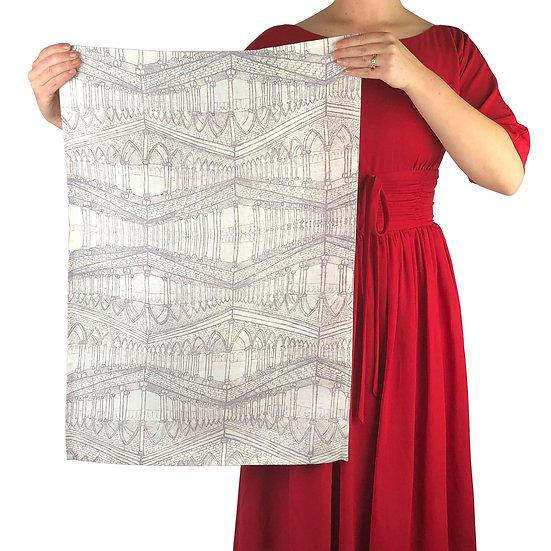'Gothic' Design Linen Tea Towel