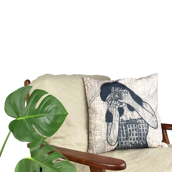 'Vintage Camera' Cushion
