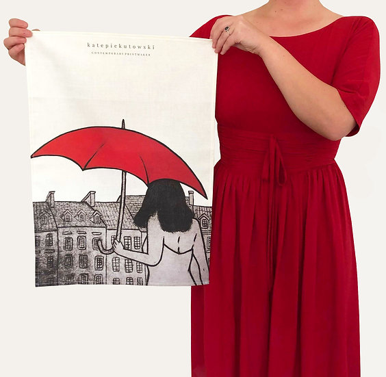 'Mary Poppins Dreaming' Design Tea Towel