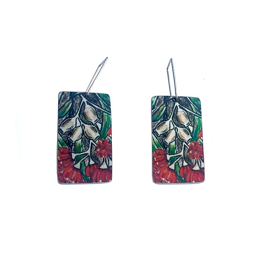 'Gumnut Flowers' Design Earrings
