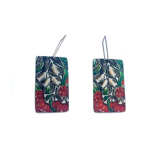 'Gumnut Flowers' Design Earrings