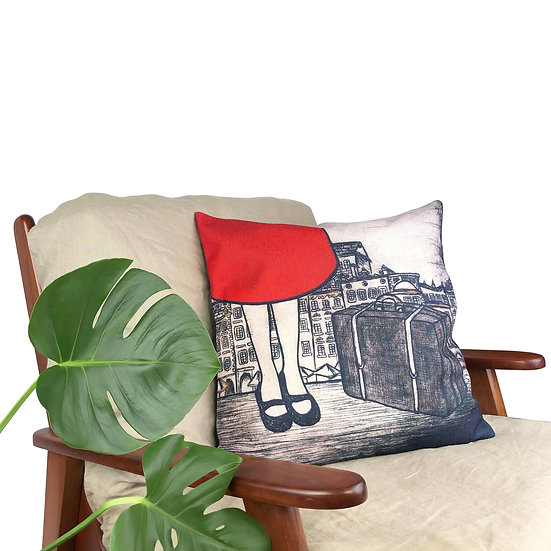 'Little Traveller' Cushion
