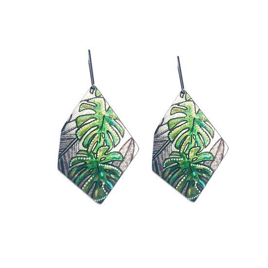 'Monstera' Design Earrings
