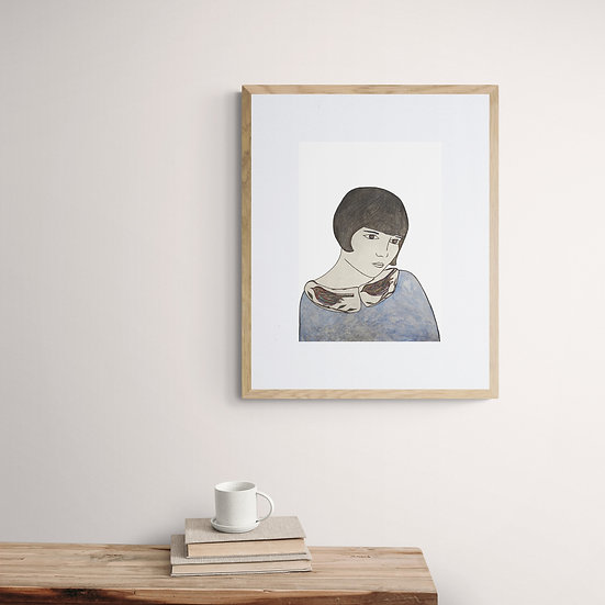 'Nostalgic Girl' Giclée Print