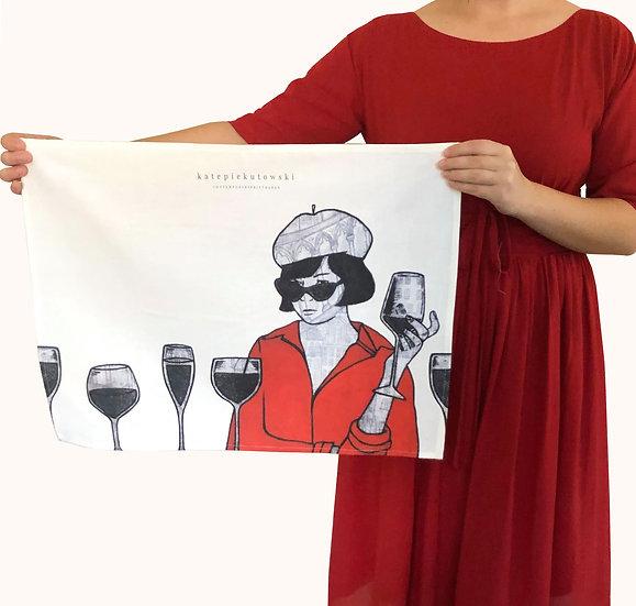 'Parisienne Facade' Design Tea Towel