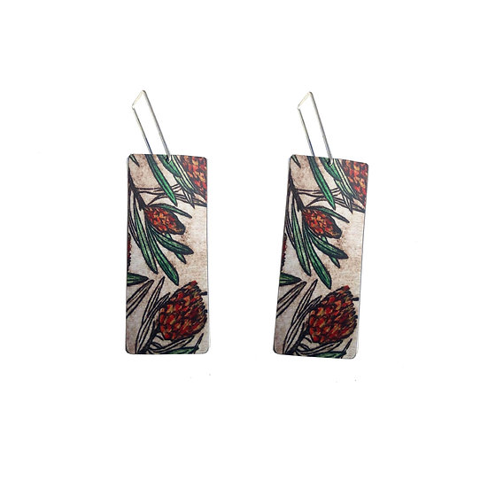 'Protea' Design Earrings