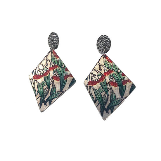 'Red Gums Blossoming' Design Earrings