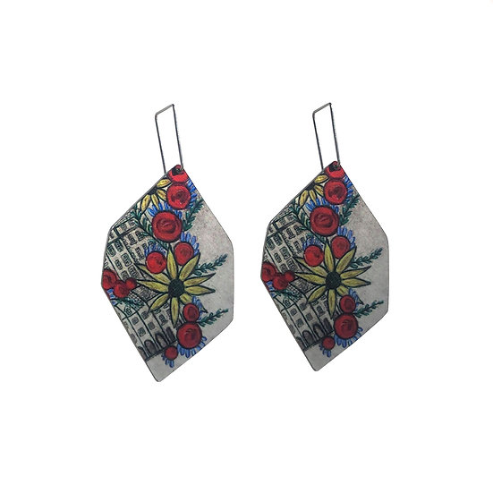 'Floral' Design Earrings