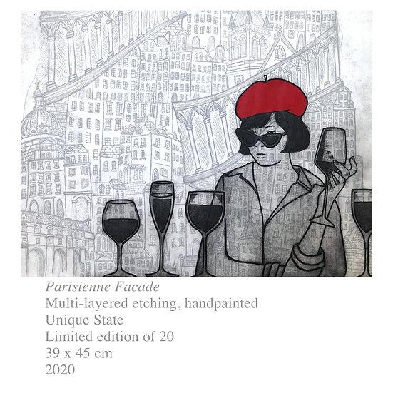 Original Etching 'Parisienne Facade' Unframed