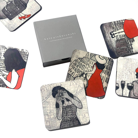 Travel Design Coaster Set of 6