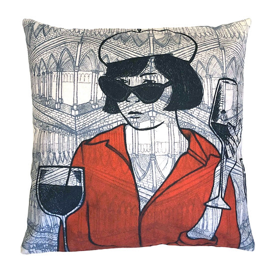 'Parisienne Facade' Design Cushion