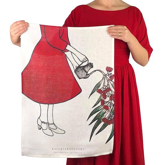 'A Flourishing of Memories' Design Tea Towel