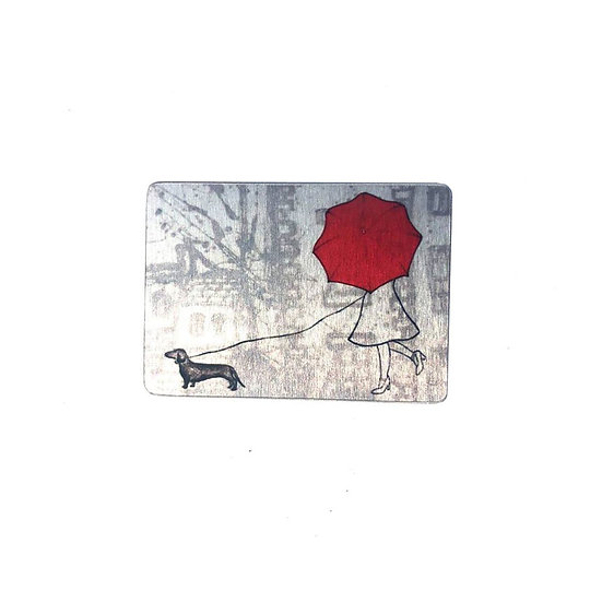 Parisienne Dog Walker Brooch