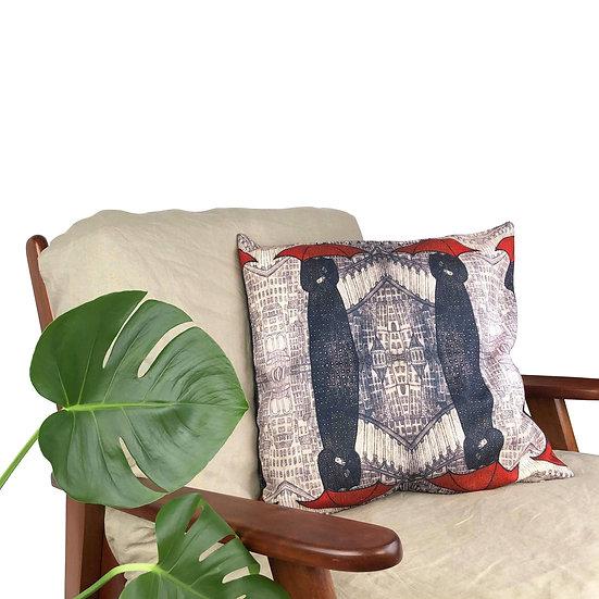 'Red Umbrella Pattern' Cushion