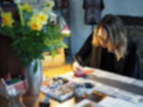 Kate Piekutowski in the studio