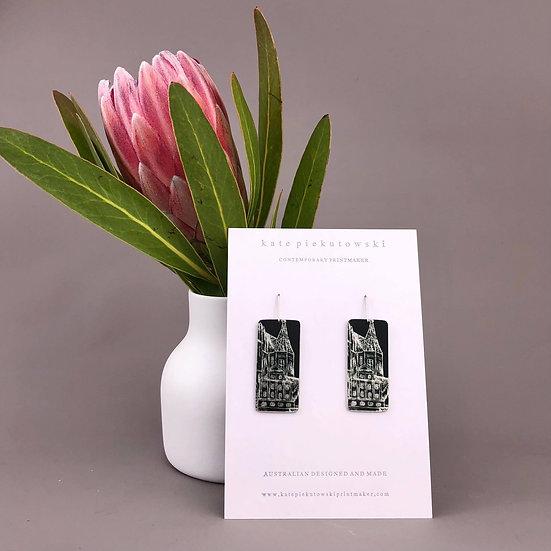 'Black and White' Design Earrings