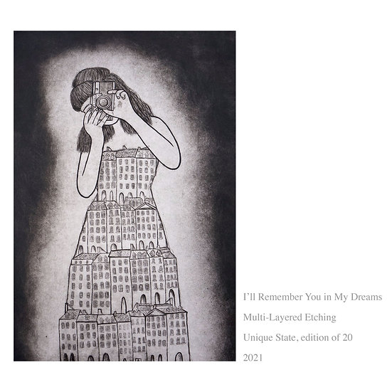 'I'll Remember You in My Dreams' Original etching
