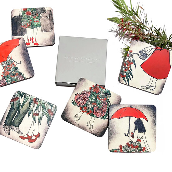 Australiana Design Coasters set of 6