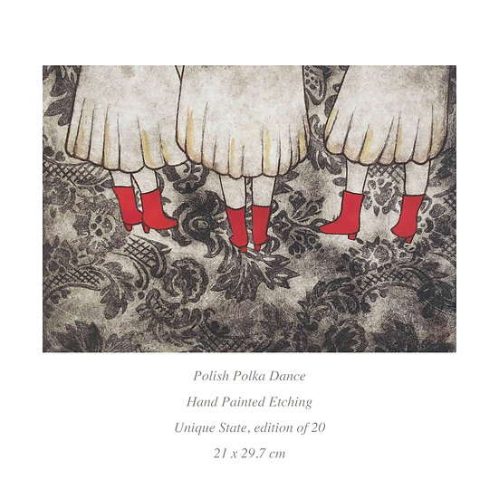 SALE 'Polish Polka Dance' Etching