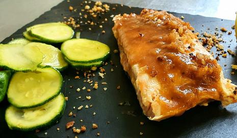 Salmone glassato