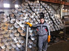 """Изготовление винтовых свай """"Останкино"""" для свайно винтового фундамента"""