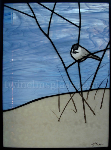 Chickadee On A Twig
