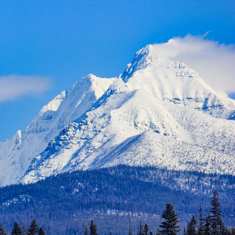 A view of Numa Peak from our property.