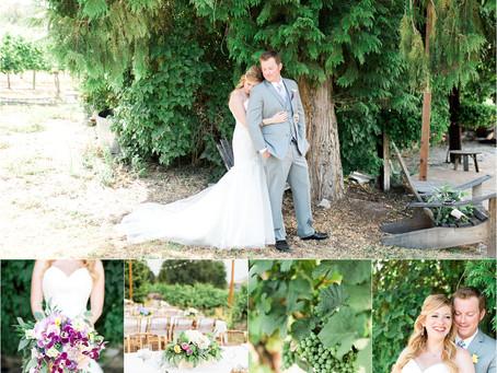 Michael & Emily   Karma Vineyards, Lake Chelan, WA