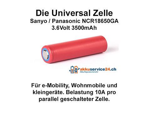 Sanyo/Panasonic NCR18650GA 3,6V - Preis pro verbaute Zelle im Akkupack