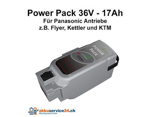 Power Pack für Panasonic Antrieb DELUXE 36V 17Ah