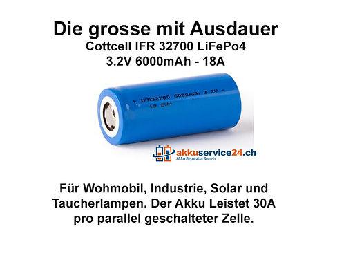 IFR32700 6000mAh LiFePo4 - Preis pro verbaute Zelle im Akkupack