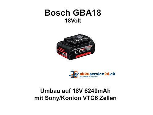 Werkzeug Akku Bosch GBA 18V - Umbau