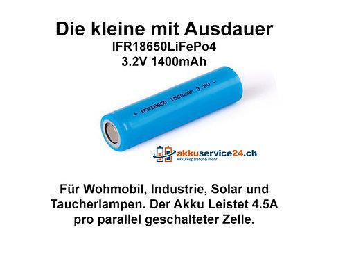 Solar Akku IFR18650 LiFePo4 - Preis pro verbaute Zelle im Akkupack