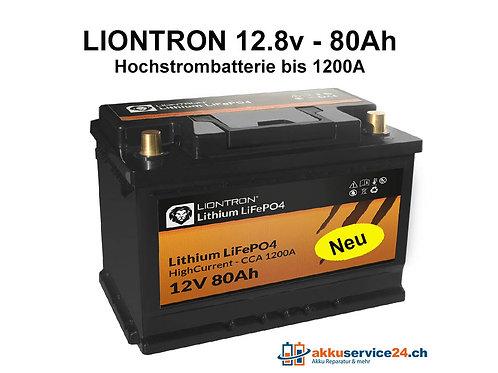LIONTRON LiFePO4 12,8V 80Ah 1200A Hochstrombatterie