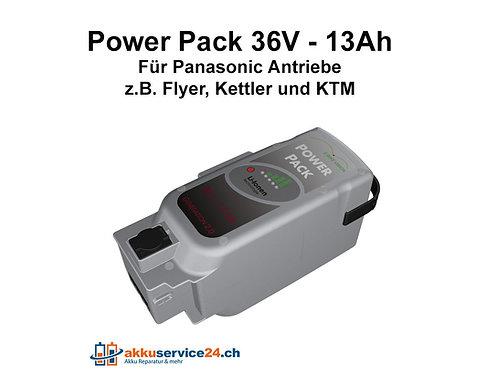 Power Pack für Panasonic Antrieb DELUXE 36V 13Ah