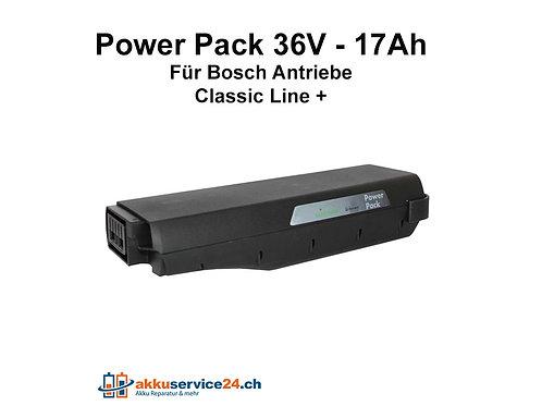 Power Pack für Bosch / Gepäckträger 36V 17Ah