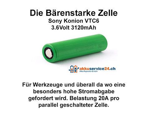 Murata / Sony Konion US18650VTC6 - Preis pro verbaute Zelle im Akkupack