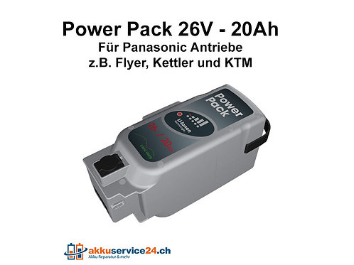 Power Pack für Panasonic Antrieb 26V 20Ah
