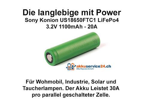 Sony Konion US18650FTC1 LiFePo4 - Preis pro verbaute Zelle im AkkupackSony