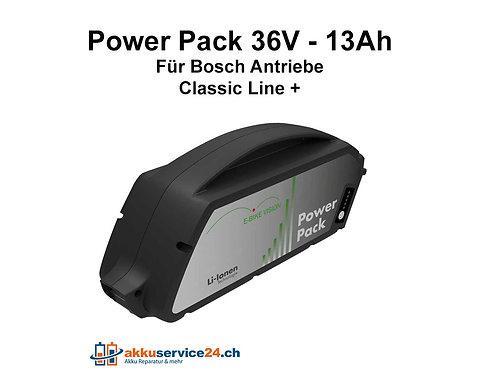 Power Pack für Bosch / Unterrohr 36V 13Ah